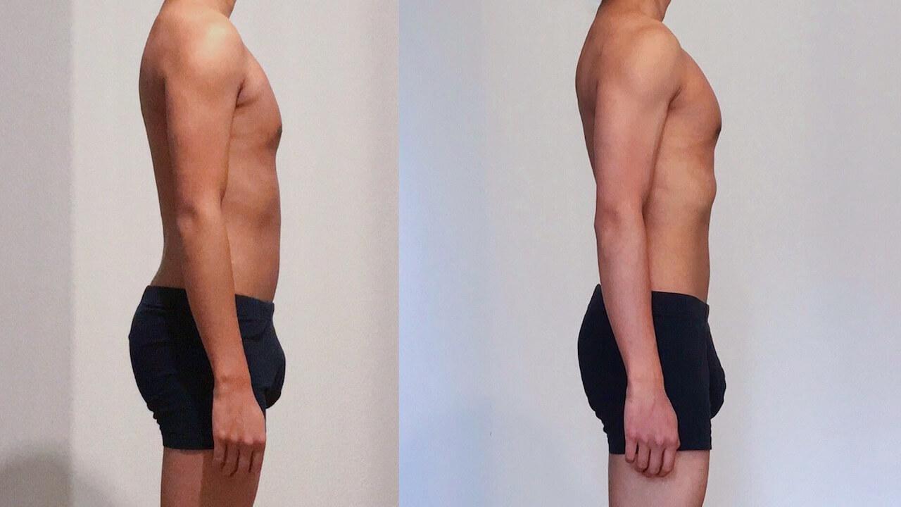 0 vs 30 weeks Freeletics Transformation right